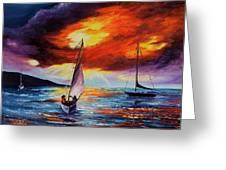 Romancing The Sail Greeting Card