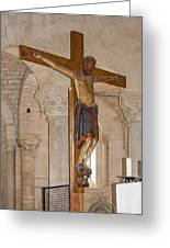 Romanesque Abbey Crucifix Greeting Card