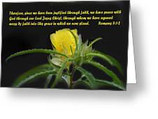 Romans 5 Verses 1 2 Yellow Wildflower Greeting Card