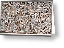 Romans And Barbarians Greeting Card