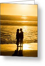 Romantic Beach Silhouette Greeting Card