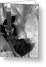 Romantic Black And White Greeting Card