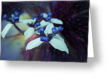 Romantic Island Lilies In Blues Greeting Card