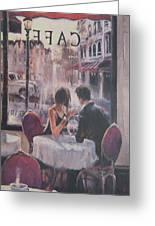 Romantic Meeting 2 Greeting Card
