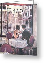 Romantic Meeting 3 Greeting Card