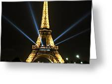 Romantic Night In Paris Greeting Card