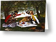 Romantic Picnic 1873 Greeting Card