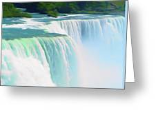 Romantic Skies Niagara Falls 2  Greeting Card