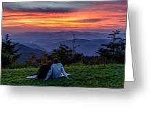 Romantic Smoky Mountain Sunset Greeting Card