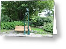 Romantic Street Lamp Greeting Card