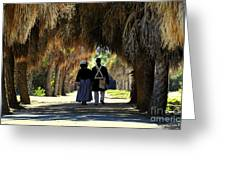 Romantic Walk 1870 Greeting Card