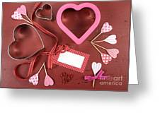 Romantic Theme Cookie Cutters Greeting Card