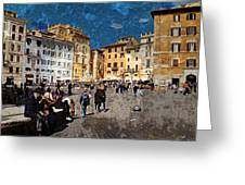 Rome - Piazza Della Rotunda Greeting Card by Jen White