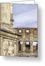 Rome Arch Of Titus Sculpture Detail Greeting Card