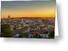 Rome At Sunset Greeting Card