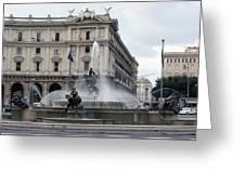 Rome Italy Fountain  Greeting Card
