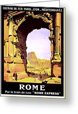 Rome, Italy, Rome Express Railway Greeting Card