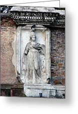 Rome Italy Statue Greeting Card