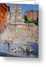 Rome Piazza Di Spagna Greeting Card
