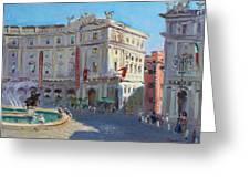 Rome Piazza Republica Greeting Card