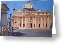 Rome Piazza San Pietro Greeting Card