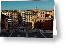 Rome Spanish Steps View Greeting Card
