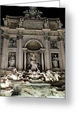 Rome - The Trevi Fountain At Night 3 Greeting Card