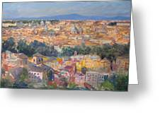 Rome View From Gianicolo Greeting Card