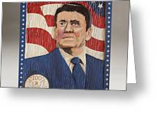 Ronald Reagan Centennial Celebration Greeting Card by James Neill