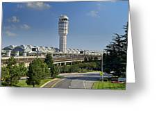 Ronald Reagan National Airport Greeting Card by Brendan Reals