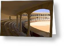 Ronda Bullring The Real Maestranza De Caballeria  Greeting Card