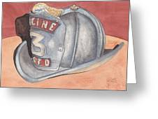 Rondo's Fire Helmet Greeting Card