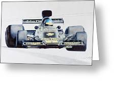 Ronnie Peterson - Lotus 76 Greeting Card