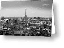 Roof Of Paris. France Greeting Card