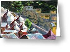 Roof Tops Of Gangotri Greeting Card