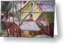 Roof Tops R Greeting Card