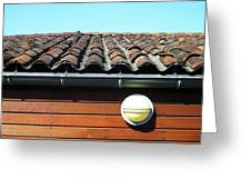 Roofline Ripples Greeting Card by Rick Locke