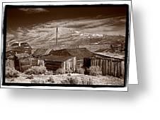 Rooflines Bodie Ghost Town Greeting Card