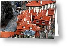 Roofs In Prague Greeting Card