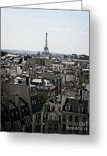 Roofs Of Paris. France Greeting Card