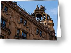 Rooftop Chariots And Horses - The Hippodrome Casino Leicester Square London U K Greeting Card