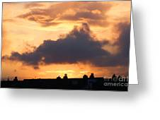 Rooftop Sunset 2 Greeting Card