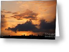 Rooftop Sunset 3 Greeting Card