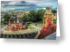 Rooftop View_pano Greeting Card