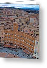 Rooftops And Cafes Of Il Campo Greeting Card