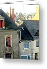 Rooftops, Chateaubriant Greeting Card