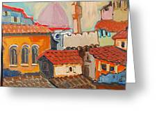 Rooftops Greeting Card