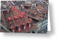 Rooftops Of Bern Switzerland Greeting Card