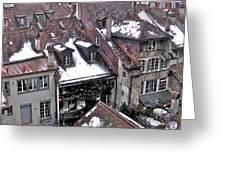 Rooftops Of Berne II Greeting Card