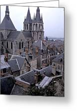 Rooftops Of Blois In France 2 Greeting Card